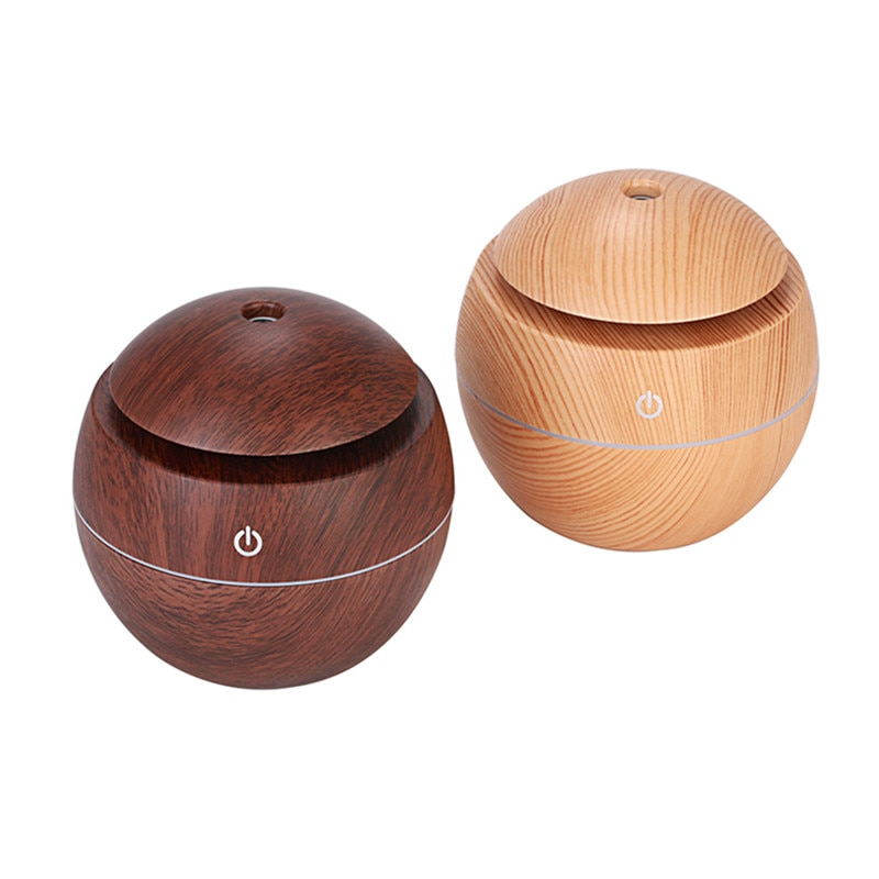 130ml USB Electric Aroma air diffuser wood Ultrasonic air humidifier Essential oil Aromatherapy cool