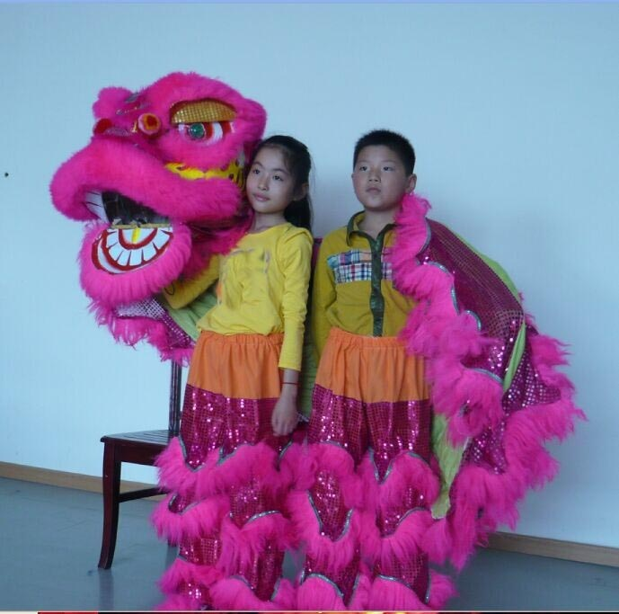 Lion Dance Costume  2 Player 8-12 Age Children Play Party Performance Sport Outdoor Parade Folk Parad Smart Stage Mascot China