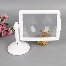 3X loupe de bureau lentille de Fresnel 360 degrés support rotatif Portable loupe de lecture