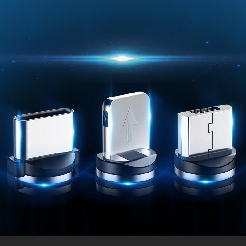 Круглые Металлические Магнитные адаптер кабельного штекера Вид аксессуаров C/Micro USB/8 pin быстрой зарядки Android Type-C кабель телефонные затычки против пыли-4