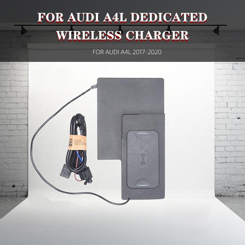 Автомобильное беспроводное зарядное устройство для Audi A4L 2017-2020 мобильный телефон QI Беспроводное Автомобильное зарядное устройство для iPhone,...