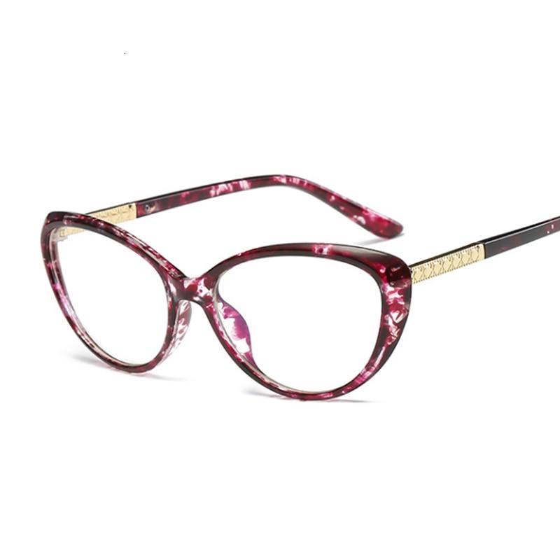Cat Eye Glasses Frame Women 2019 Fashion Clear Glasses Lens Myopia Optical Glasses For Computer Frame Oculos Feminino