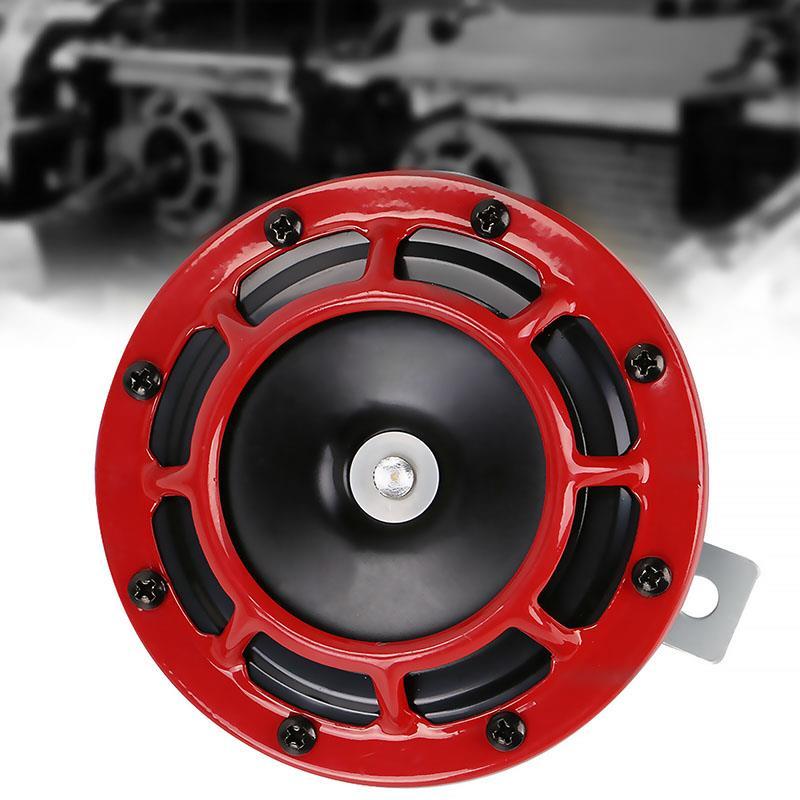 Novo 12v chifre do carro liga de alumínio o chifre do carro dianteiro vermelho durável adequado para uma variedade de modelo de carro distinto olhar elegante