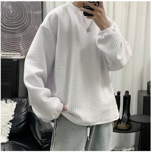 Hoodie men 2021 New Spring and Autumn O Neck Solid Color Cotton Sweatshirts Men Casual Loose Fit Hoodies Sweatshirts Men