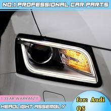 Araba aksesuarları için Audi Q5 farlar 2008-2012 2013-2015 Q5 LED far DRL Lens çift kiriş H7 d2H HID Xenon bi xenon mercek