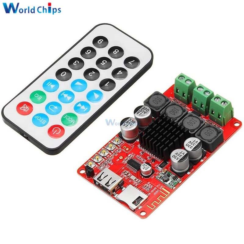 TPA3116 50W+50W Bluetooth Amplifier Board FM Radio TF Card 2X50W Digital Audio Power Amplifiers for Headphones Home Theater