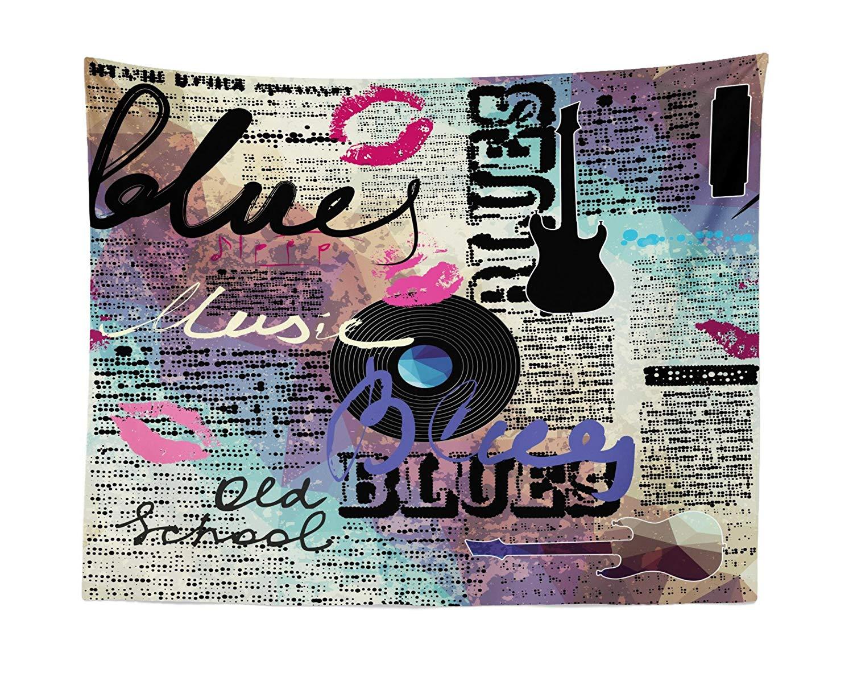 Retro Blues música Blues género viejo récord guitarras eléctricas beso inscripciones Grunge tejido personalizado