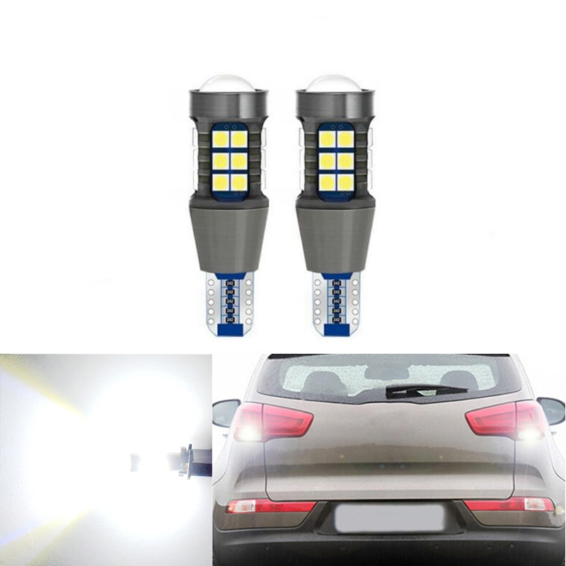 2x W16W LED Canbus T15 Led Bulbs Reverse Light 921 912 27SMD 3030 Car External Backup Rear Lamp 12V 6000K White Auto