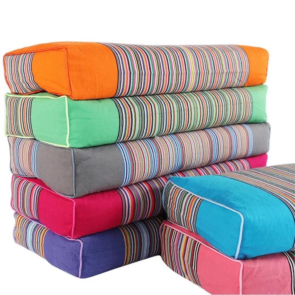 50x20x9 см старая наволочка из грубой ткани полосатая хлопковая наволочка с подкладкой Съемная квадратная наволочка для подушки из гречихи