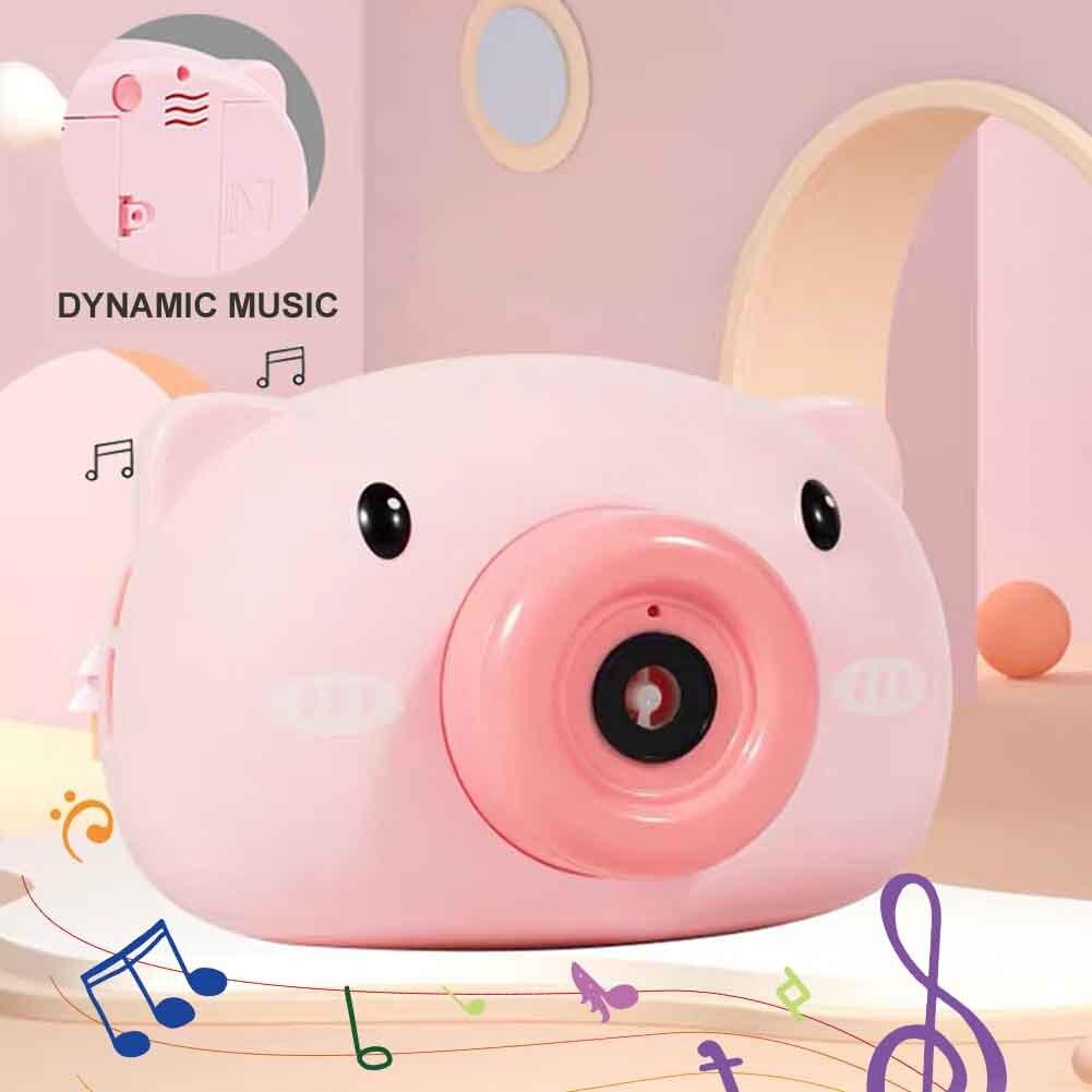 2020 Piggy, Panda, máquina de burbujas, cámara de juguete para niños, Burbuja eléctrica automática soplada, chica, corazón, cerdo, juguete para regalo