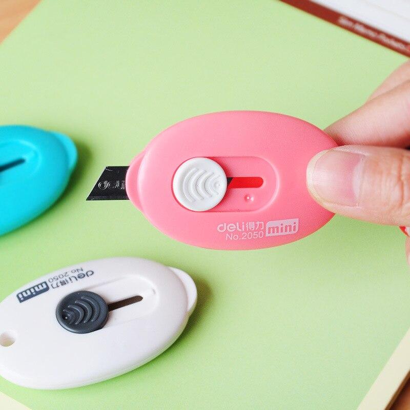 Nette Einfarbig Mini Tragbare Utility Messer Papier Cutter Schneiden Papier Rasierklinge Büro Schreibwaren Escolar Papelaria