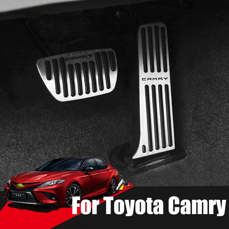 Pedal de freno de acelerador de coche, pedales de reposapiés, funda antideslizante para Toyota Camry 2006-2017 2018 2019 2020 Accesorios
