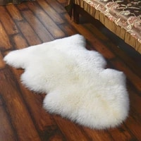 soft fluffy faux wool fur carpet irregular beside bed rug mat chair seat cover sofa cushion for living room and bedroom
