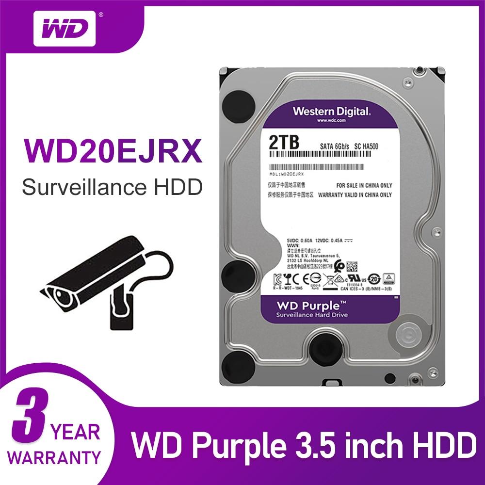 WD الأصلي الأرجواني مراقبة HDD 1 تيرا بايت 2 تيرا بايت 3 تيرا بايت 4 تيرا بايت 6 تيرا بايت 8 تيرا بايت 10 تيرا بايت 12 تيرا بايت SATA 6.0 جيجابايت/ثانية 3.5 \