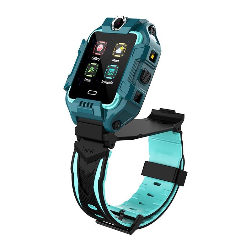 LEMFO Smartwatch 4G الأطفال ساعة ذكية الاطفال الموقع سيم كاميرا مزدوجة لتحديد المواقع واي فاي LBS ساعة يد بلوتوث مكالمة فيديو HD شاشة تعمل باللمس