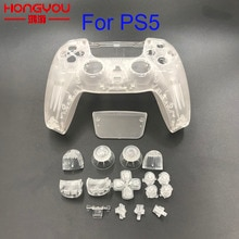 Replacement Full Set Transparent Clear Front Back Housing Shell Case Cover Suit For Playstation 5 Fo