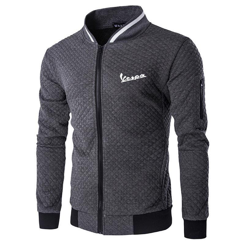 Новинка 2021, модная мужская бейсбольная куртка Vespa, мужская спортивная одежда, повседневная толстовка, мужская верхняя одежда на молнии в сти...