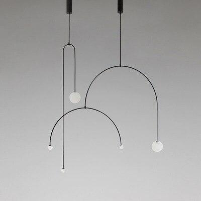 Luces colgantes postmodernas de tubo en U decoración interior accesorios de iluminación colgantes nórdico Industrial lámpara colgante restaurante luminarias LED