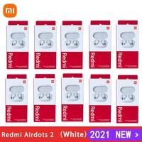 6/10 шт. оригинальные белые Xiaomi Redmi Airdots 2 TWS Bluetooth наушники стерео бас 5,0 наушники с микрофоном гарнитура наушники