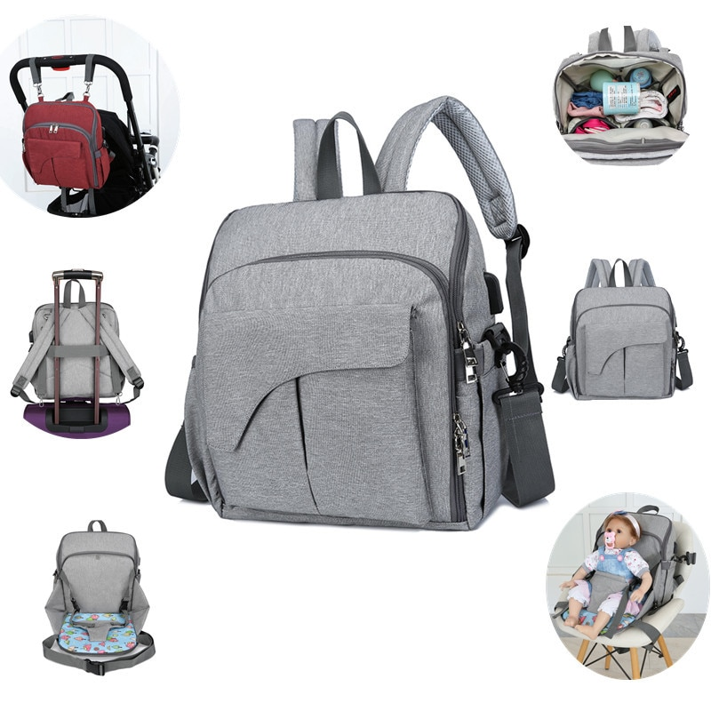 Mommy Large-capacity Backpack Maternity nappy Bag Multifunctional Waterproof Outdoor Travel Diaper Bags For mom Baby Care недорого