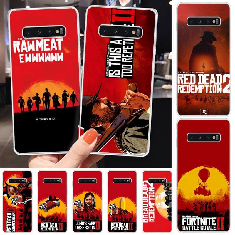 Red Dead Redemption Phone Case For Samsung S6 S7 S7edge S8 S8plus S9 S9plus S10 S10 Plus E Wholesale