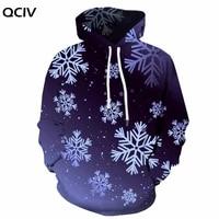 qciv christmas sweatshirts men snowflake sweatshirt printed art hoody anime harajuku hooded casual unisex hip hop winter new
