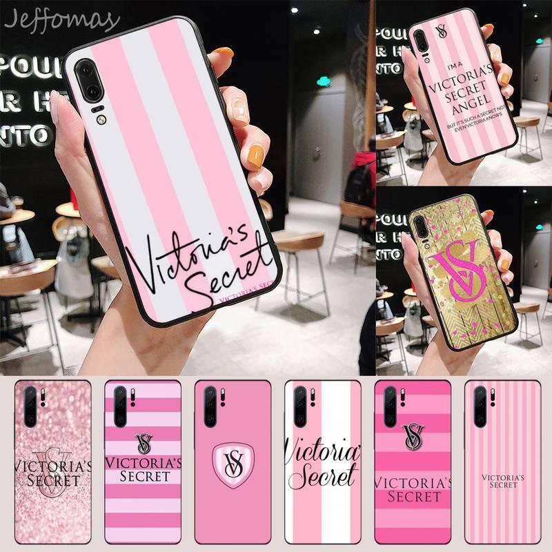 Victoria de lujo de moda Rosa funda del teléfono para Huawei P 9 8 10 40 Mate 30 Honor 8 8A 20 20s 9x nova 6se 5t Y9s PSMART lite pro 2017