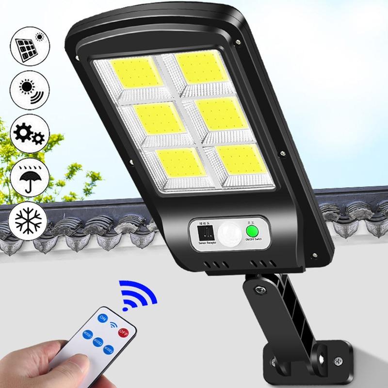 Led Solar Street Lights Outdoor Solar Lamp 120/128/160 COB Waterproof Motion Sensor Security Lighting for Garden Patio Path Yard