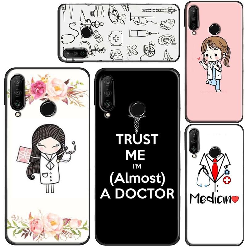 Funda de Doctor médico enfermera medicina estudiante para Huawei P30 P40 Pro P10 P20 Lite P Smart Z 2019 Mate 10 Lite 30 20 Pro cubierta