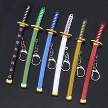 Porte-clés une pièce chaude porte-clés Roronoa Zoro épée kitetsu jouet modèle porte-clés en métal llaveros porte-clés Chaveiro Anime bijoux