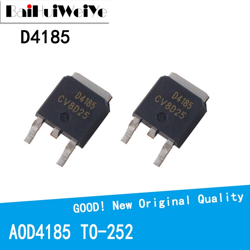 10PCS/LOT AOD4185 D4185 4185 40A 40V TO-252 TO252 MOS FET New and Original IC Chipset new original 30pcs lot 78m05 to252 7805 750ma