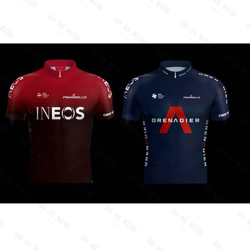 INEOS-Camiseta de ciclismo profesional para hombre, maillot de manga corta y pantalones...
