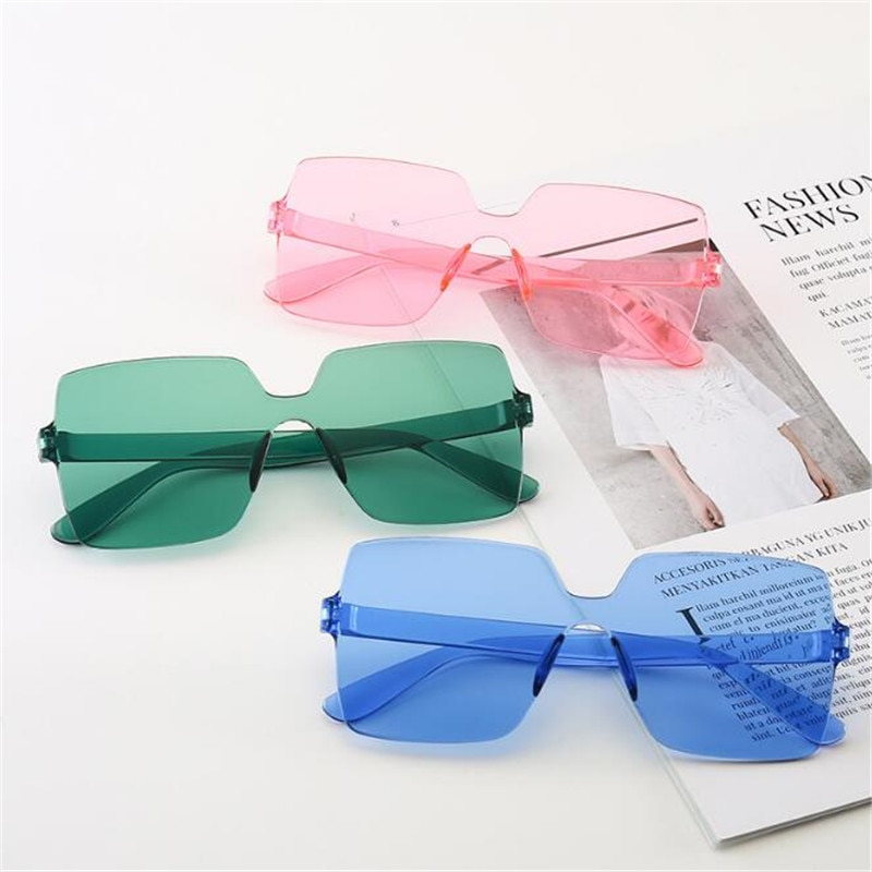 Cheap Square Goggle Sunglasses Women Candy Color Lens Eye Sun Glasses Female Girls Fashion Shades ó