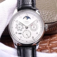 replica mens watches tulx 502305 automatic mechanical top brand watch white dial and black strap