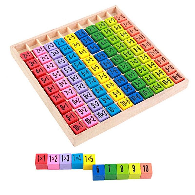 Material Montessori, juguetes de madera para bebés, mesas de multiplicación 99, juguetes matemáticos