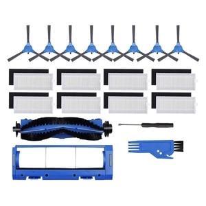 Main Brush Side Brush Filter Main Brush Cover Cleaning Kit for Eufy RoboVac 11S RoboVac 30 Robot Vacuum Cleaner