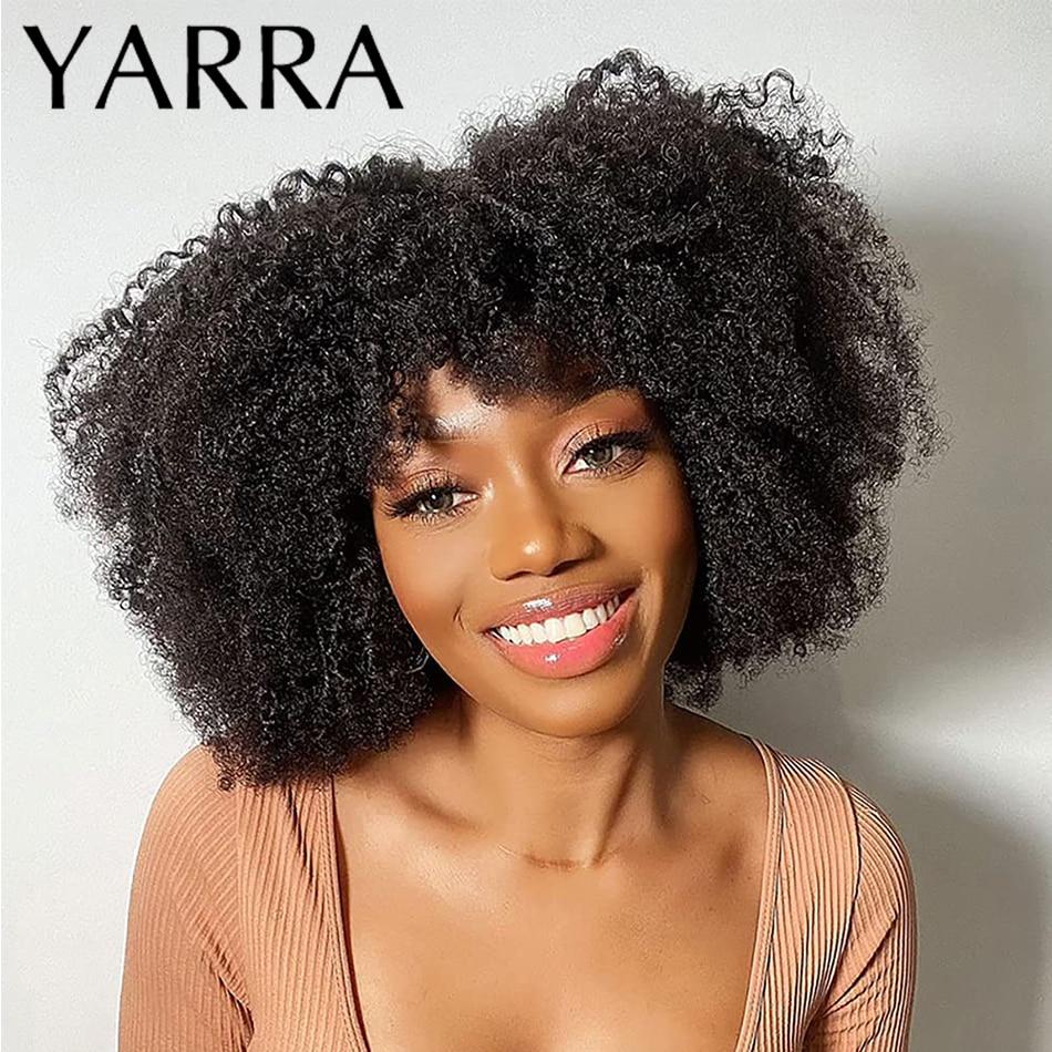 Афро кудрявые вьющиеся человеческие волосы Bomb, бразильские волосы Remy, афро кудрявые человеческие волосы, парики для черных женщин, машинная...