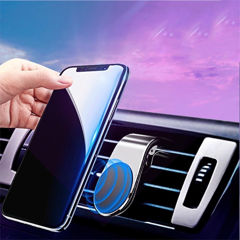 Metal Magnético Suporte Do Telefone Do Carro para Audi A3 8V 8P A4 B6 B8 a5 s linha de Acessórios Móveis suporte Para Carro titular do telefone Suporte