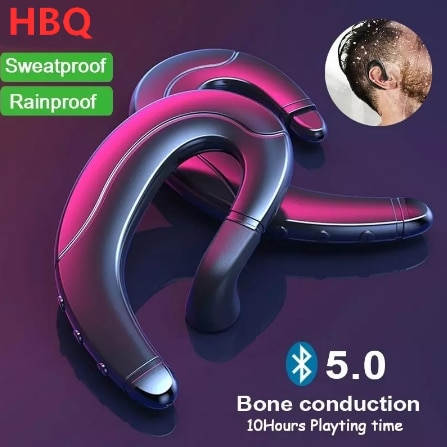 Bone conduction Bluetooth headset portable universal one side hands free wireless ear hanging mobile phone talk sports headset