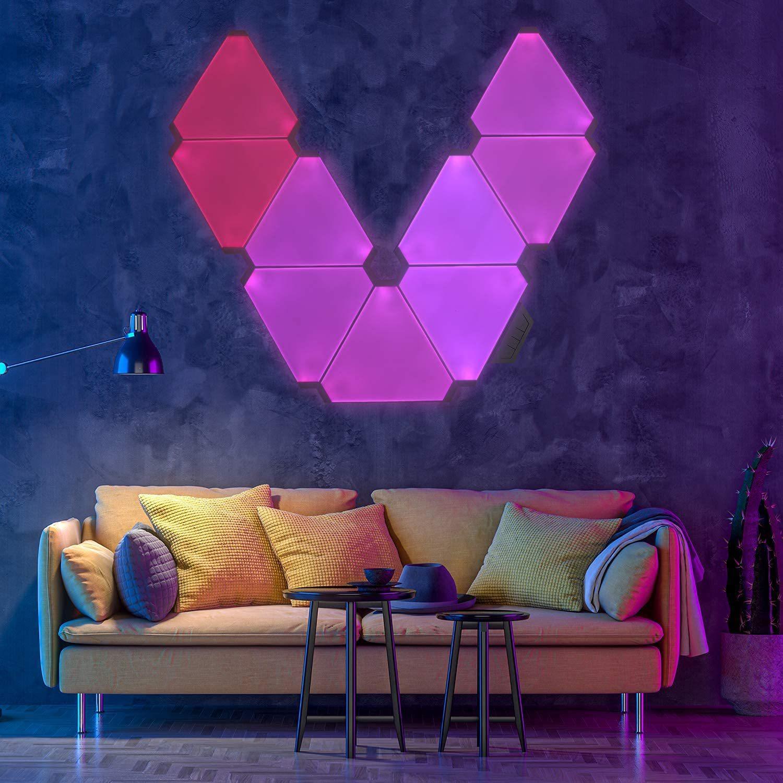 Smart Home Light Panels Rythem Edition, Voice Control Magic RGB LED Panel Light WiFi Lighting Lamp Kit with Alexa Google Home enlarge