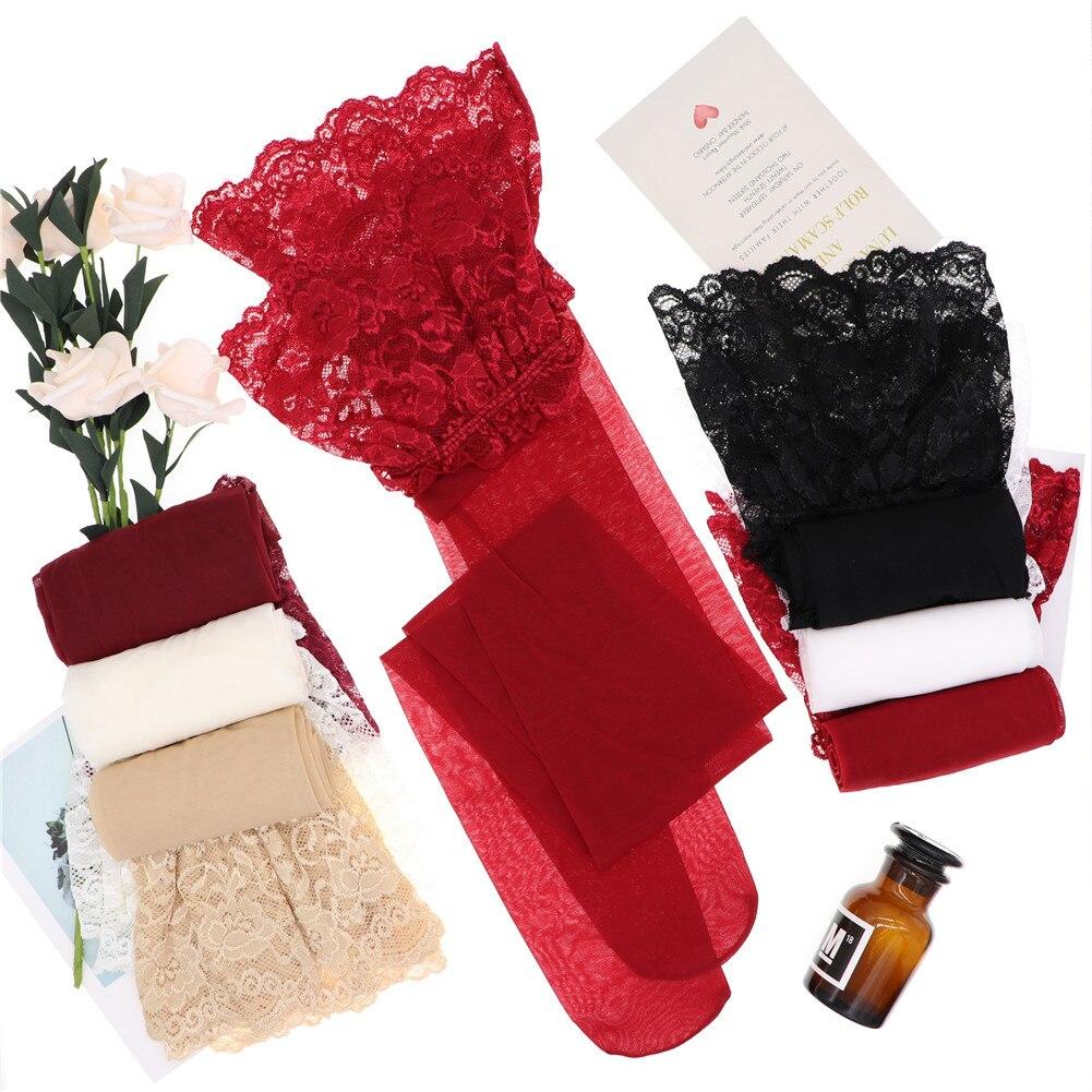 Женское нижнее белье CYHWR, прозрачные ультратонкие кружевные колготки черного/белого/телесного/винно-красного цвета