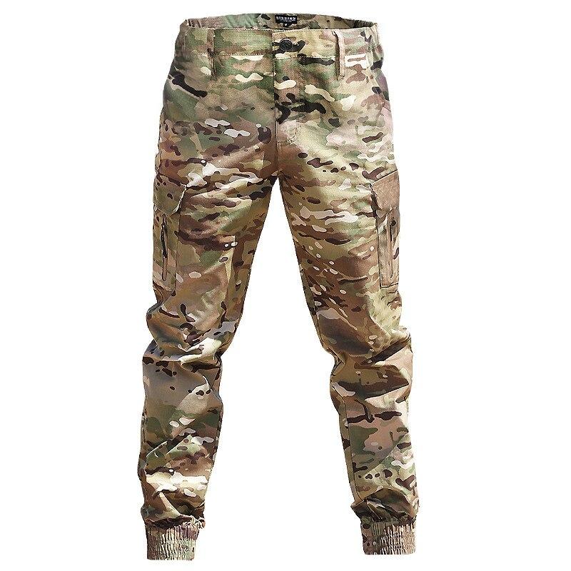 Брюки-карго мужские камуфляжные, в стиле милитари