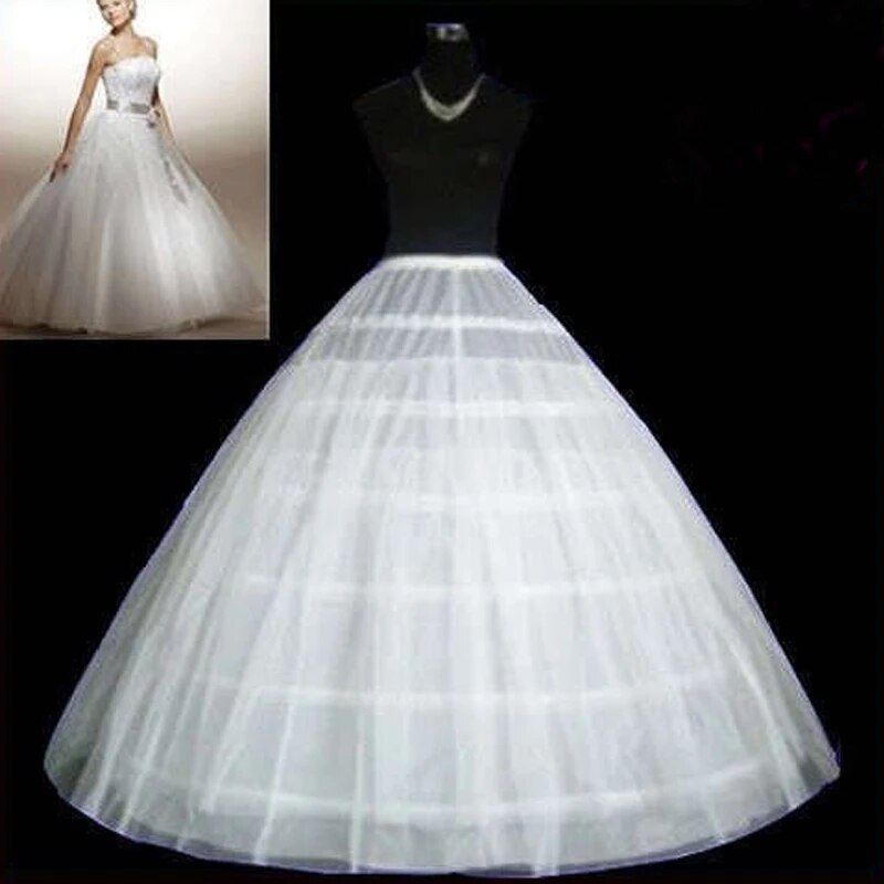 New In Tren 6 Hoops Two layers tulle Wedding Petticoat Ball Gown Crinoline Slip Underskirt For Wedding Dress Wedding Accessories