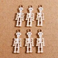 10pcs 1026mm enamel skeleton skull man charms for making pendants necklaces drop earrings bracelets diy crafts jewelry findings