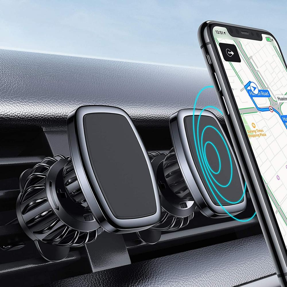 Magnetic Car Phone Holder For Phones Universal Car Air Vent  Holder For iPhone 12 Cell Mobile Phone