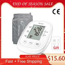 AICARE Arm Blood Pressure Monitor Digital Sphygmomanometer Medical Pressure Meter Gauge Device Cuff Pulse Heart Rate Health Care