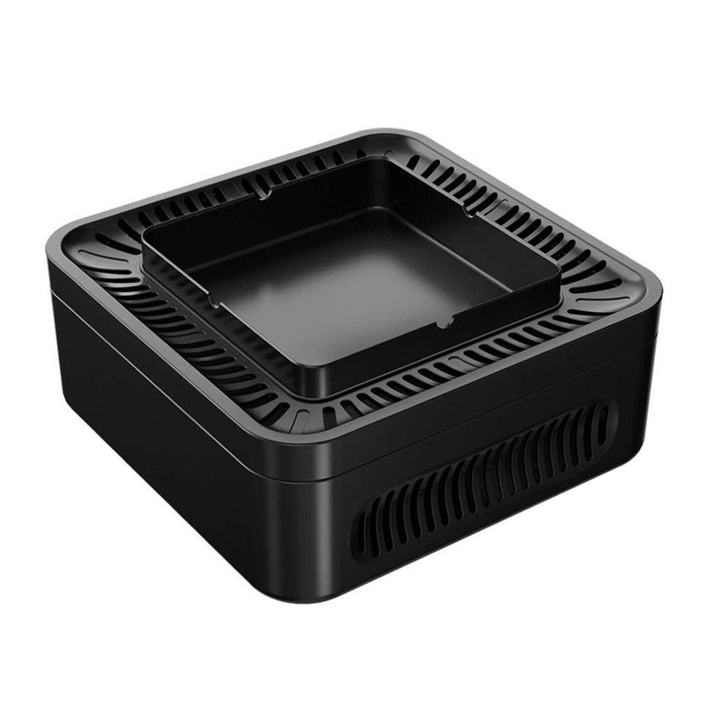 USB Rechargeable  Ashtray Portable Smokeless Ashtray Secondhand Smoke Air Filter Purifier Home Office Car Holder enlarge