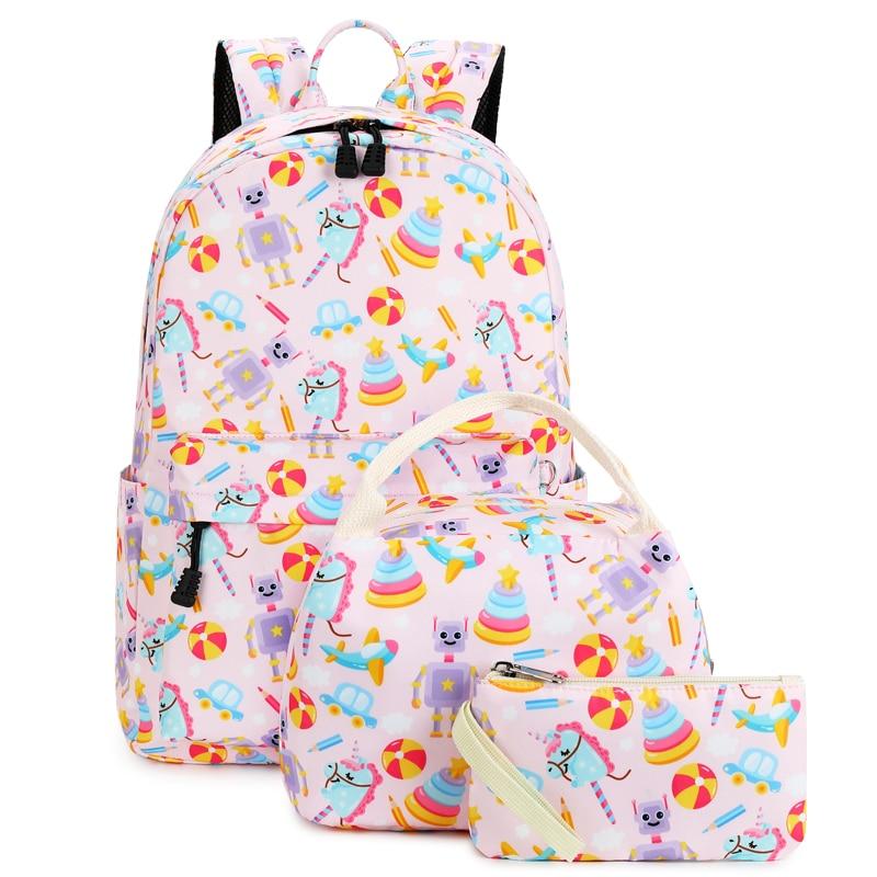 Abshoo لطيف الكرتون على ظهره فتاة الوردي يونيكورن حقائب الظهر لطيف موضة حقائب الأطفال المدرسية أطفال هدية حقيبة كتب مدرسية