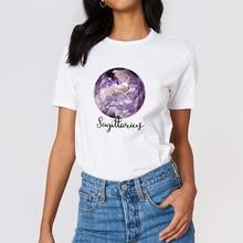 Nouveau t-shirt femmes Constellation sagittaire t-shirt Streetwear impression graphique haut printemps été ropa mujer T-shirts à col rond