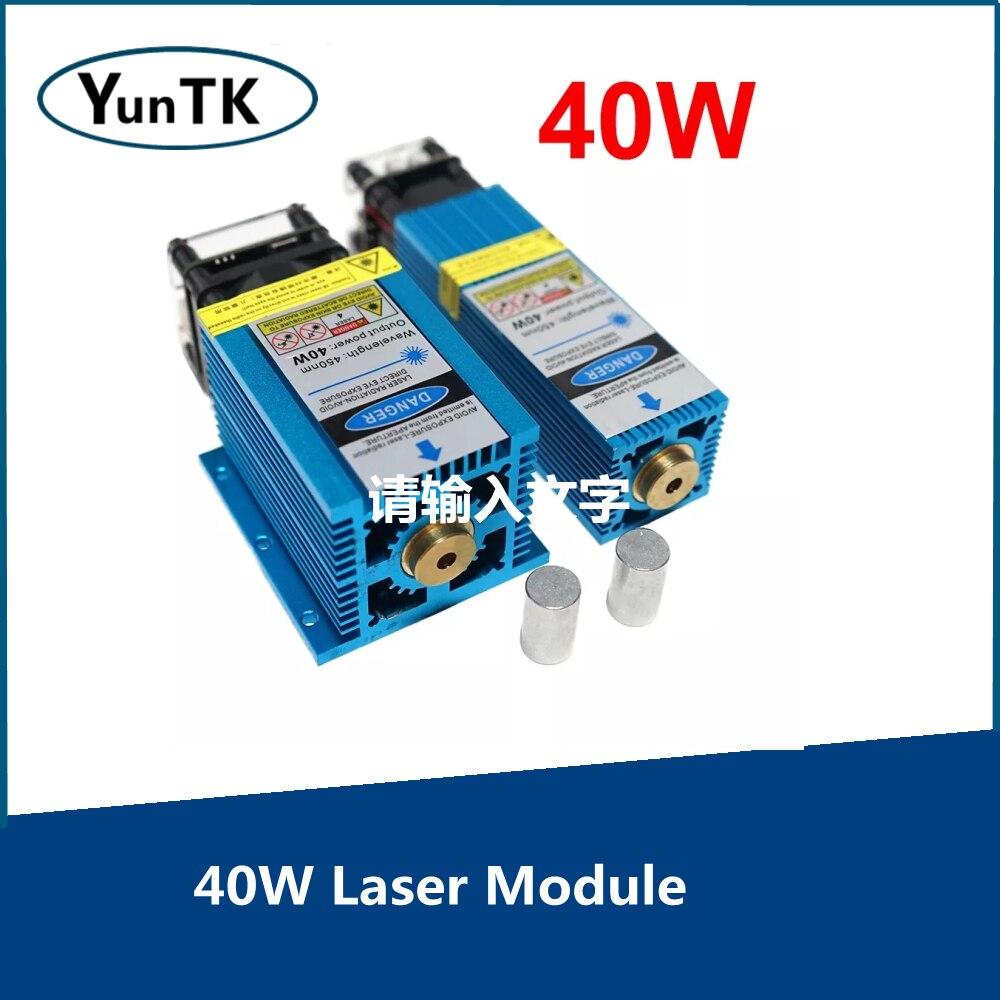 Лазерный модуль 40 Вт 450 нм Синяя лазерная головка с фиксированным фокусом TTL модуль для лазерной гравировки по дереву маркировочный режущий ...